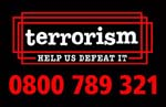 0800 789 321 free, confidential, Anti-Terrorist Hotline (use 999 or 112 to report immediate threats)